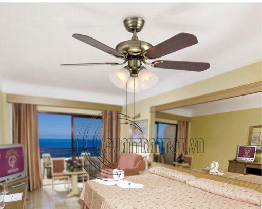 Lắp quạt trần phòng ngủ cho phù hợp phong thủy - mà vẫn đản bảo tính thẩm mỹ
